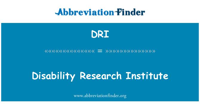 DRI: Disability Research Institute