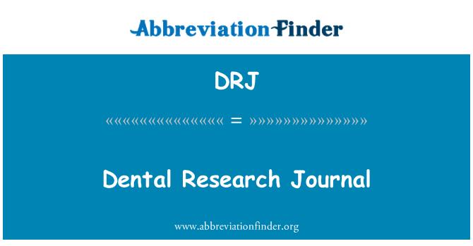 DRJ: Dental Research Journal