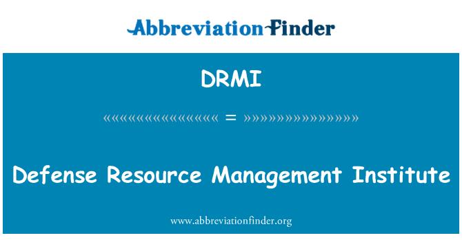 DRMI: Instituto de gestión de recursos de defensa