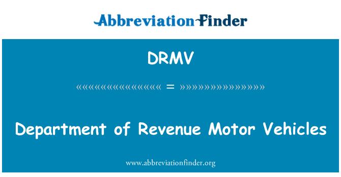 DRMV: Department of Revenue Motor Vehicles