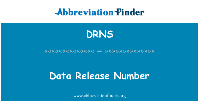 DRNS: Data Release Number