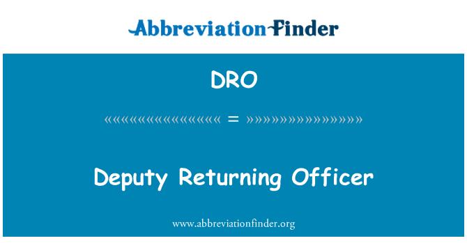 DRO: Deputy Returning Officer