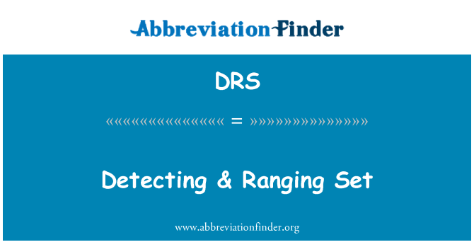 DRS: Detecting & Ranging Set