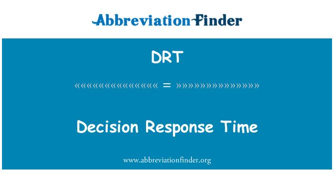DRT: Decision Response Time