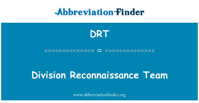 DRT: Division Reconnaissance Team