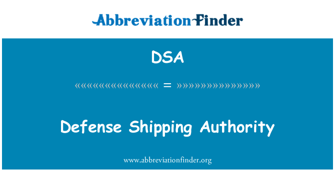 DSA: Defense Shipping Authority