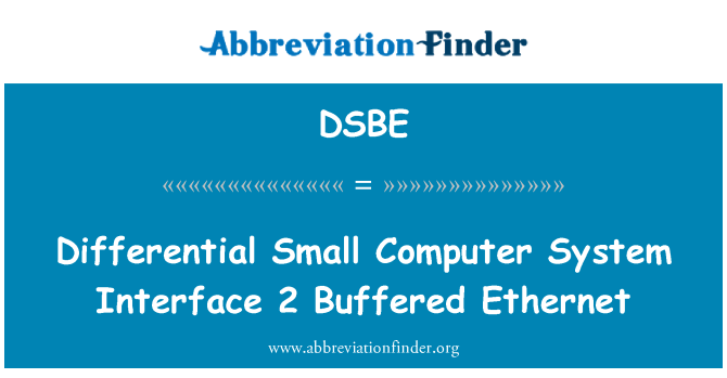 DSBE: Differential Small Computer System Interface 2 Buffered Ethernet