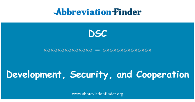 DSC: Development, Security, and Cooperation