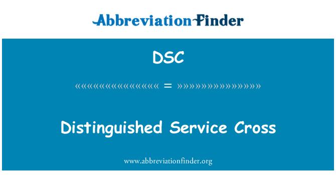 DSC: Distinguished Service Cross