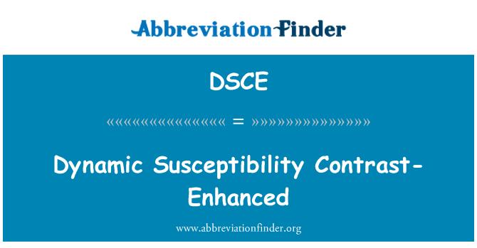 DSCE: Dynamic Susceptibility Contrast-Enhanced