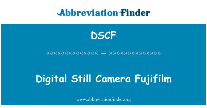 DSCF: Digital Still Camera Fujifilm