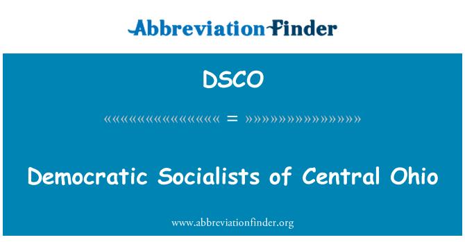 DSCO: Democratic Socialists of Central Ohio