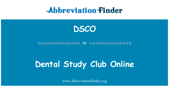 DSCO: Estudio Dental Club en línea