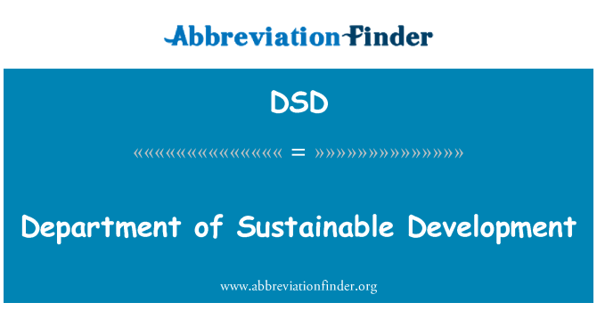 DSD: Department of Sustainable Development