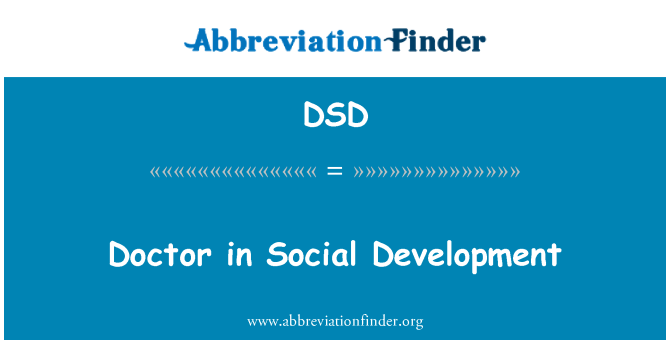 DSD: Doctor in Social Development