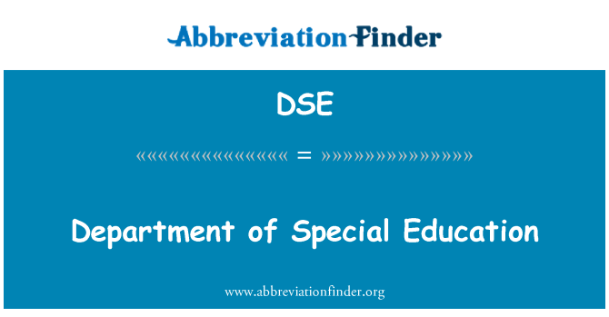 DSE: Department of Special Education
