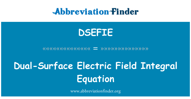 DSEFIE: Dual-Surface Electric Field Integral Equation