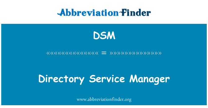 DSM: Directory Service Manager