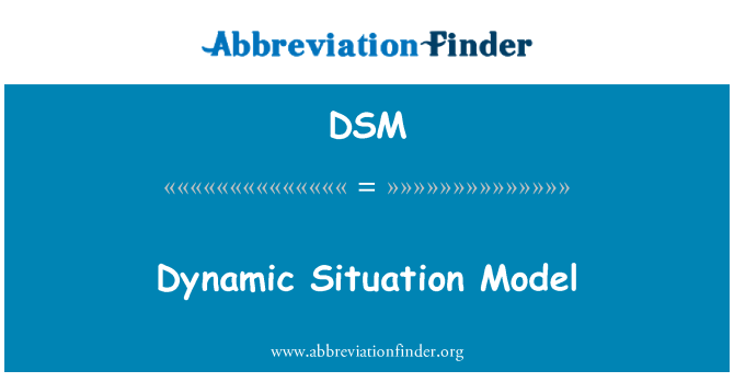 DSM: Dynamic Situation Model