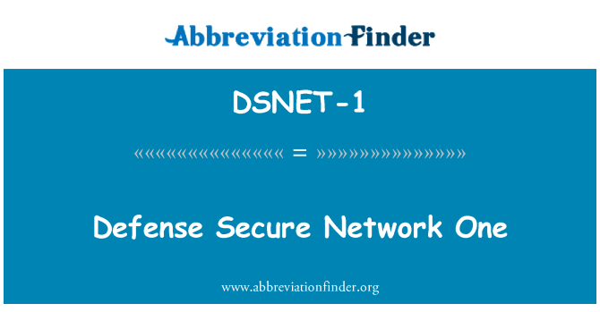 DSNET-1: Defense Secure Network One