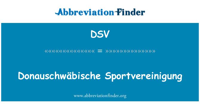 DSV: Donauschwäbische Sportvereinigung