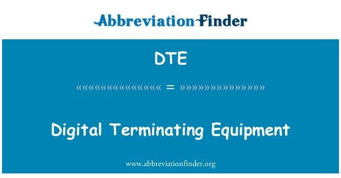DTE: Digital Terminating Equipment
