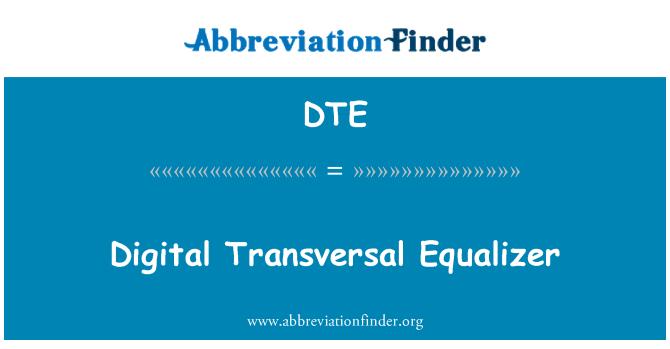 DTE: Digital Transversal Equalizer