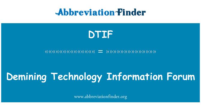 DTIF: Demining Technology Information Forum