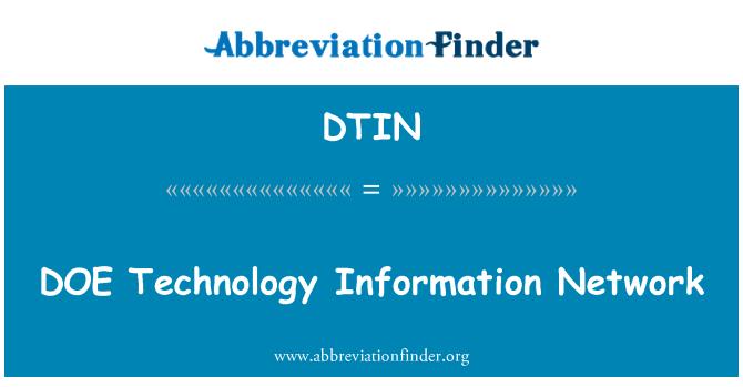 DTIN: DOE Technology Information Network