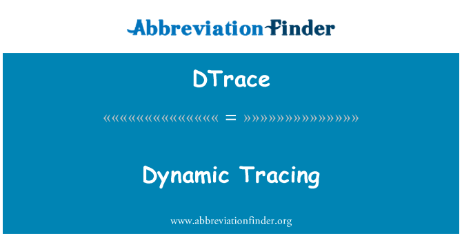 DTrace: Dynamic Tracing