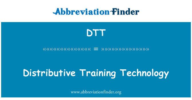 DTT: Distributive Training Technology