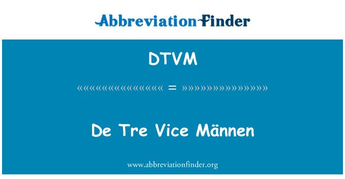DTVM: De Tre Vice Männen