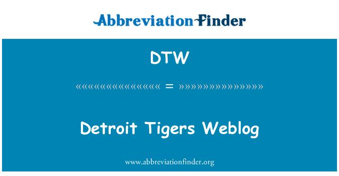 DTW: Detroit Tigers Weblog
