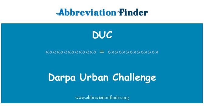 DUC: Darpa Urban Challenge
