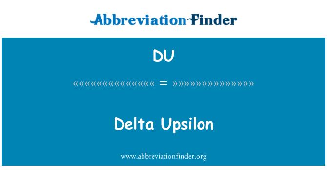 DU: Delta Upsilon