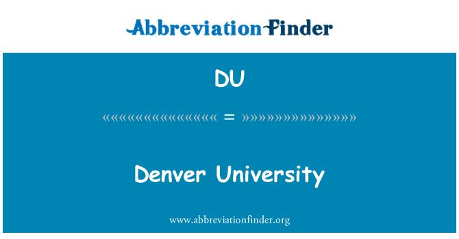 DU: Universidad de Denver