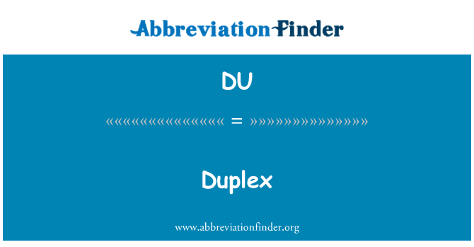 DU: Duplex
