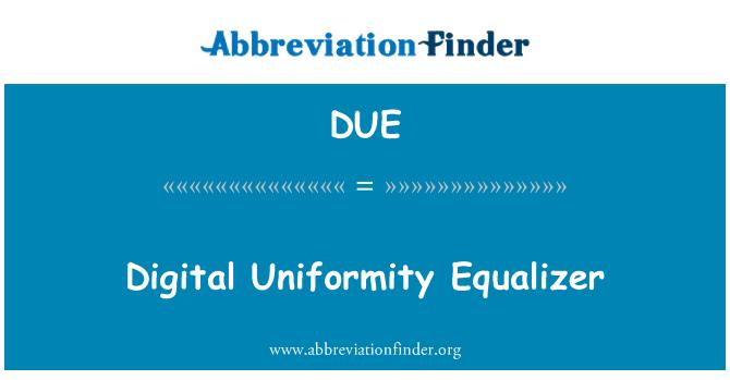 DUE: Digital Uniformity Equalizer