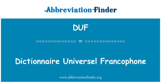 DUF: Dictionnaire Universel Francophone