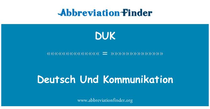 DUK: Deutsch Und Kommunikation