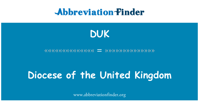 DUK: Diocese of the United Kingdom