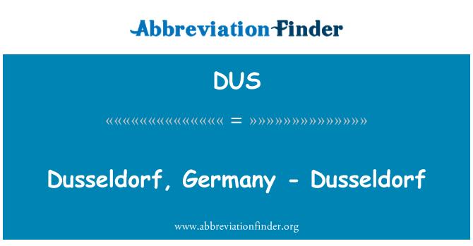 DUS: Dusseldorf, Germany - Dusseldorf
