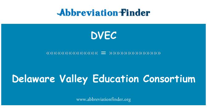 DVEC: Consorcio de Educación de Valle de Delaware