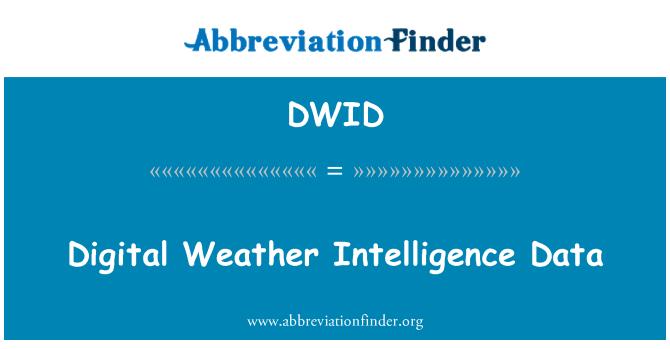 DWID: Digital Weather Intelligence Data