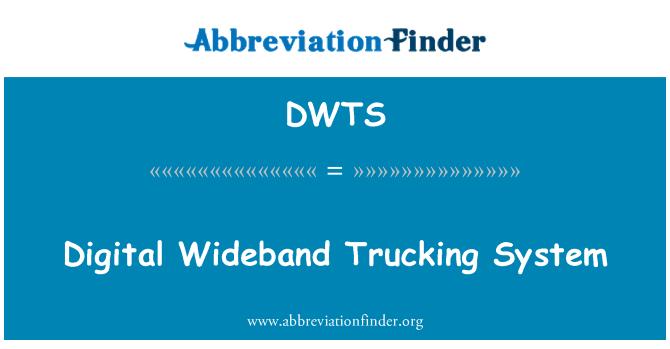 DWTS: Digital Wideband identitinya sistem