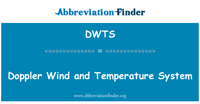 DWTS: Halaju angin dan suhu sistem