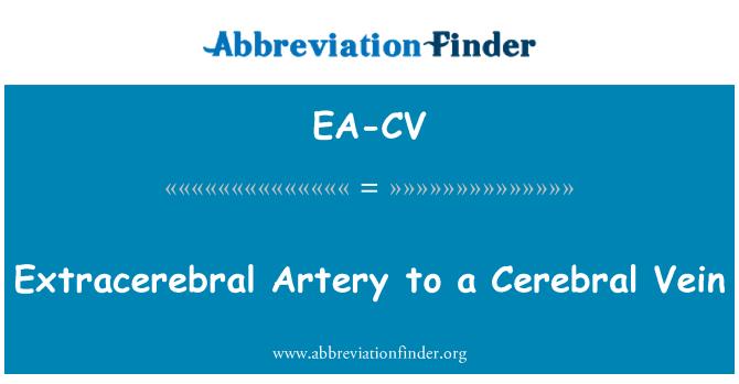 EA-CV: Extracerebral arteria a una vena Cerebral