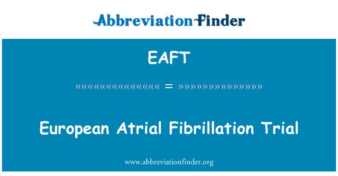 EAFT: Proces Evropské fibrilace síní
