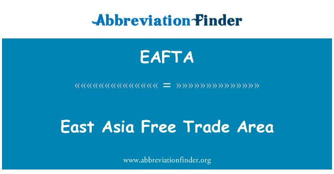 EAFTA: Área de libre comercio de Asia oriental