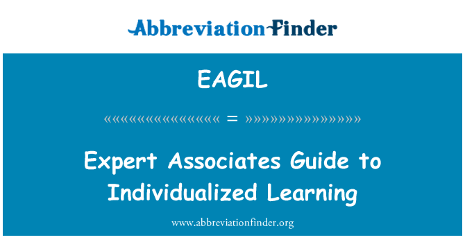 EAGIL: Expert Associates Guide to Individualized Learning